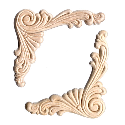 Marvelous Wood Appliques   Scroll Corner (2pc)