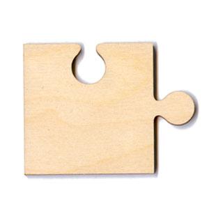 """Puzzle Piece - 2 1/2"""" Corner"""