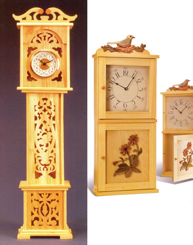 Wooden Clocks from Best of Scroll Saw Magazine