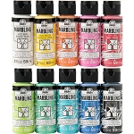 Set of 10 FolkArt Marbling Paints