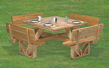 wooden square picnic table plans | woodideas
