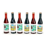 Mini Wine Bottles (6pc) - 1 3/8
