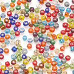 E-Beads - Silver Lined Assorted - Pound