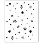Stencil - Snowflake Background