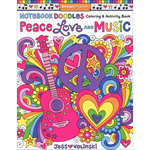 Notebook Doodles - Peace Love & Music
