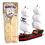 Wood Model Pirate Ship Kit