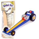 Wood Model Drag Racer Kit