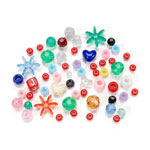 Assorted Acrylic Beads - 1/2 pound bag