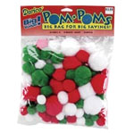 Pom-Poms - Christmas - 100pc