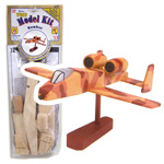 Wood Model Kit Bomber