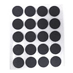 Black Felt Dots - 2mm thick - 20pc