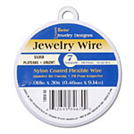 Nylon Coated Beading Wire - Silver 7 strand x 30'