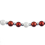 Red & White Bead Garland - 3/8