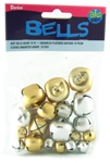 Jingle Bells - Gold & Silver - Assorted Sizes - 19pc