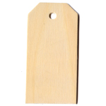 Postal Tag (Die Cut Plywood) - 3 1/4