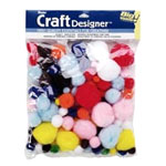 Pom-Poms - Assorted - 100pc