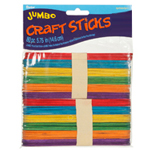 Jumbo Craft Sticks-Coloured 60pc
