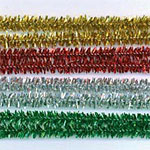Chenille Stems Tinsel Holiday (60pc) - 12