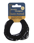 Satin Rattail Black (6yd) - 1mm