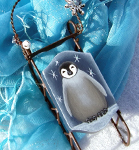 Baby Emperor Penguin Sleigh Packet by Cindy Dawson