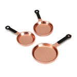 Copper Pots 3pc