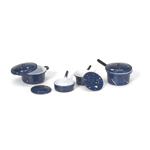 Mini Blue Enamel Cookware (8pc) - up to 1 3/4