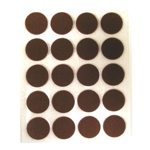 Brown Felt Disks - 1/2