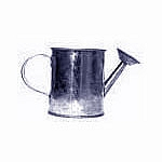 Galvanized Metal Watering Can - 2 1/4
