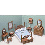 Dollhouse Kit - Bedroom Set