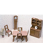 Dollhouse Kit - Dining Room Set