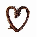 Mini Grapevine Heart Wreaths (8pc) - 1
