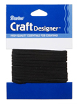 Sueded Cording Black 3mm 3yd