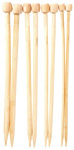 Bamboo Knitting Needles 4pc Set - Large