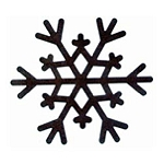 Rusty Country Snowflakes-3 3/8