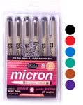 Pigma Micron .01 Colour Set - 6pc