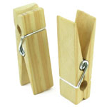 Wooden Clothes Pins - 2 3/4