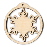 Ornament - Snowflake Scroll - 2 3/8
