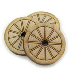 Ox Cart Wheel - 1 3/4