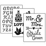 Stencil 3pc Value Pack - Wedding - 7
