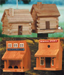 Plan-Log Cabin/Old West Bird Feeder
