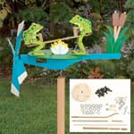 Plan-Teetering Frogs Whirligig with Parts Kit
