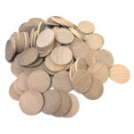 Special 100pc Bulk Pack - Wood Disc - 1 1/2