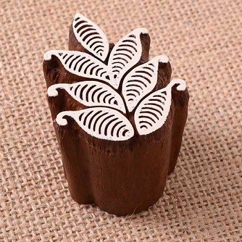 Block Stamp Small Fern - 1 3/4""
