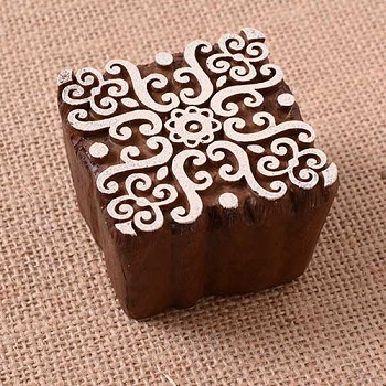 Block Stamp Baroque Medallion - 2 3/4""