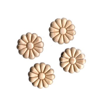 Wood Appliques - Daisy (4pc)
