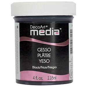 Media Gesso Black - 4oz