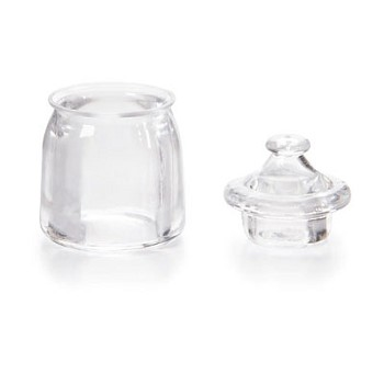 "Mini Apothecary Jar with lid - 1 1/4"" tall"
