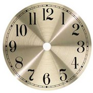Metal Clock Dial - Brushed Brass - 7""