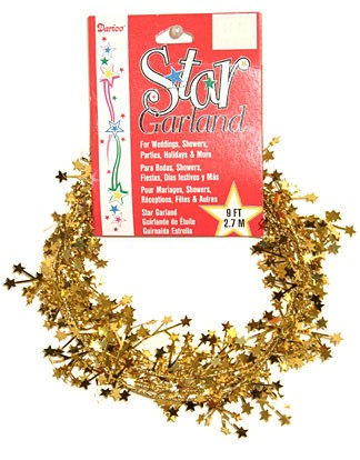 Gold Foil Star Garland - 9'