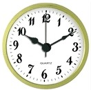 "Clock Fit-Up - 2 3/4"" - White/Arabic"